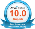 Topm Attorney Personal Injury Badge